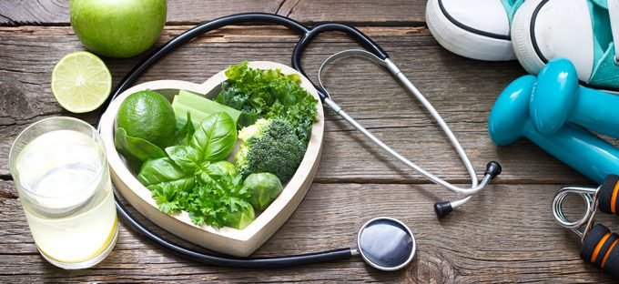 Healthy Plant Diet and Exercise for Heart Healthy Lifestyle
