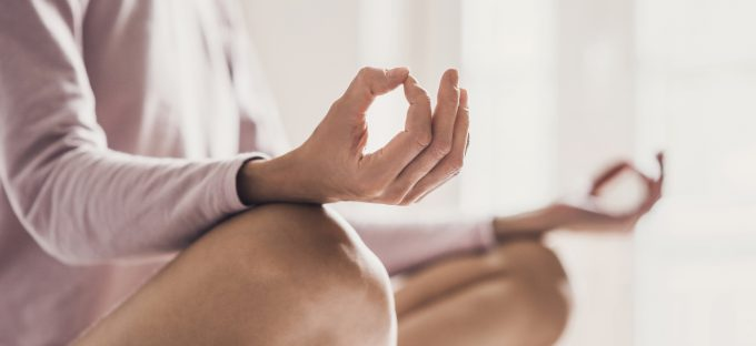 Woman in seated Meditation
