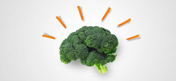 Broccoli in the shape of a brain