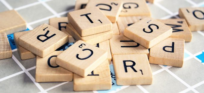 Scrabble Tiles on board